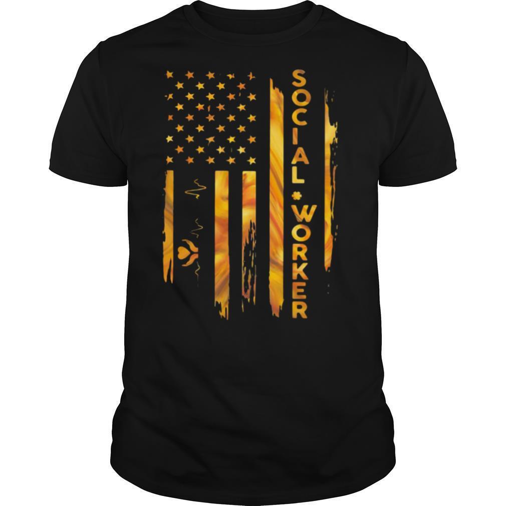 Social Worker American Flag shirt Classic Men's