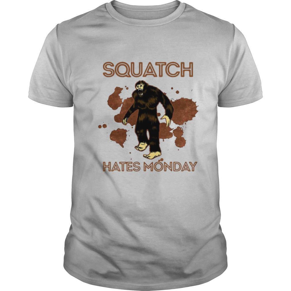 Bigfoot Squatch Hates Monday shirt Classic Men's