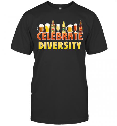 Celebrate Diversity Craft Beer Drinking IPA Beer Humor shirt Classic Men's
