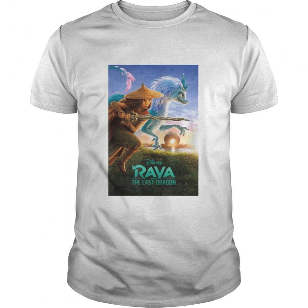 Disney Raya And The Last Dragon Movie Poster  Classic Men's T-shirt