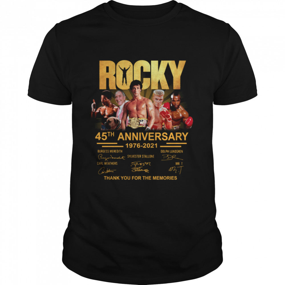 Rocky 45th Anniversary 1976 2021 Thank You For Memories Signature shirt Classic Men's T-shirt