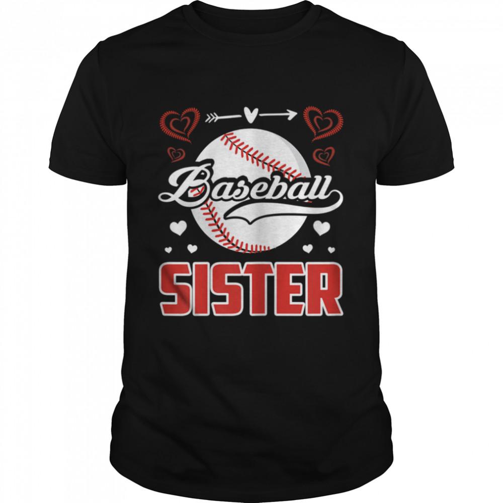 Baseball Sister Retro Proud Baseball Sister Family Matching shirt Classic Men's T-shirt