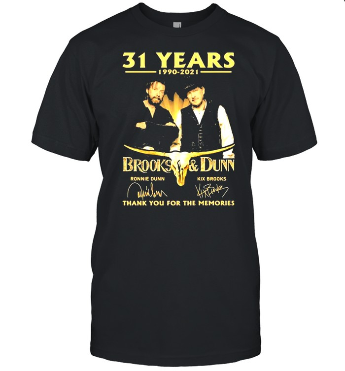 31 Years 1990 2021 Brooks And Dunn Thank You For The Memories Signature shirt Classic Men's