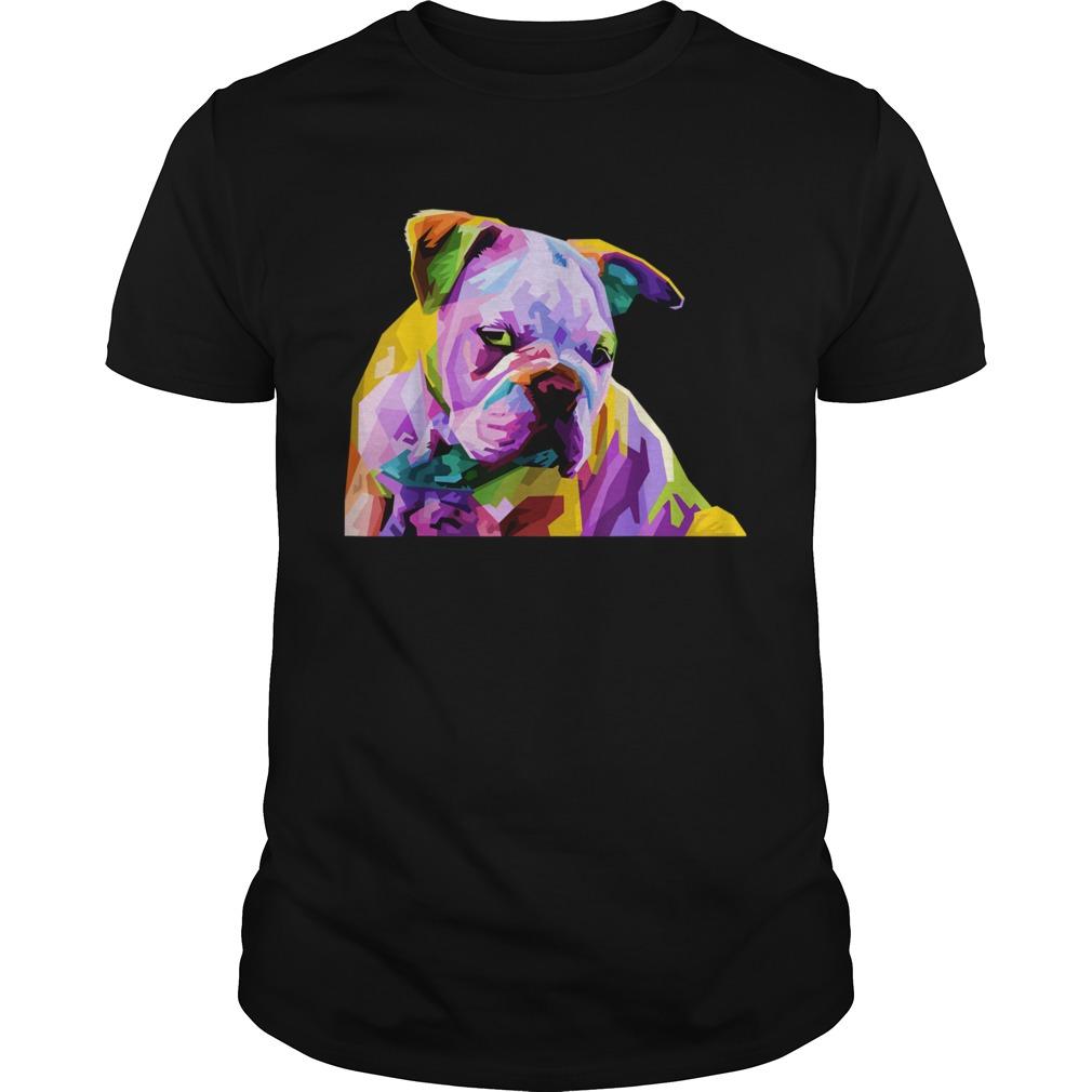English British Bulldog Pop Art for Dog Owners shirt Classic Men's