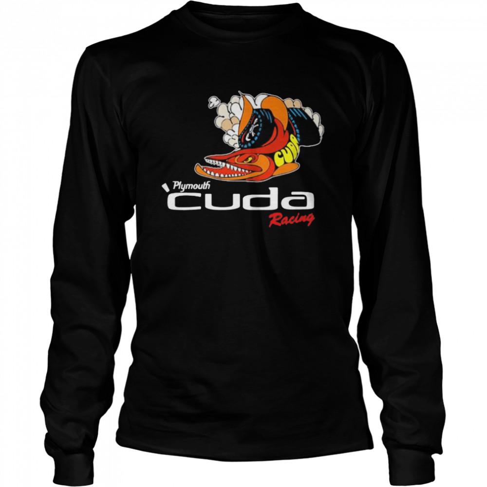 Plymouth Cuda Racing Logo  Long Sleeved T-shirt