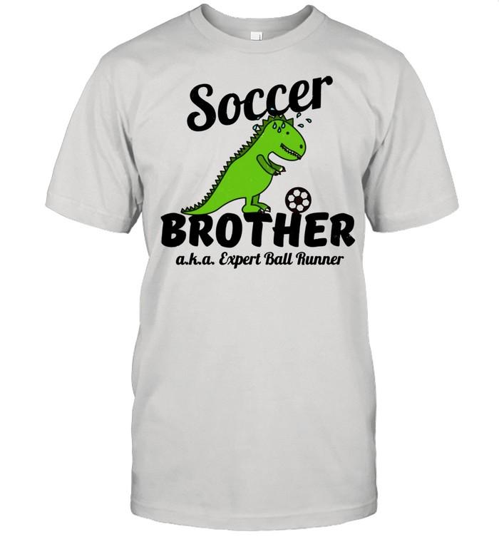 Little Brother Soccer Ball Runner Distressed shirt Classic Men's T-shirt