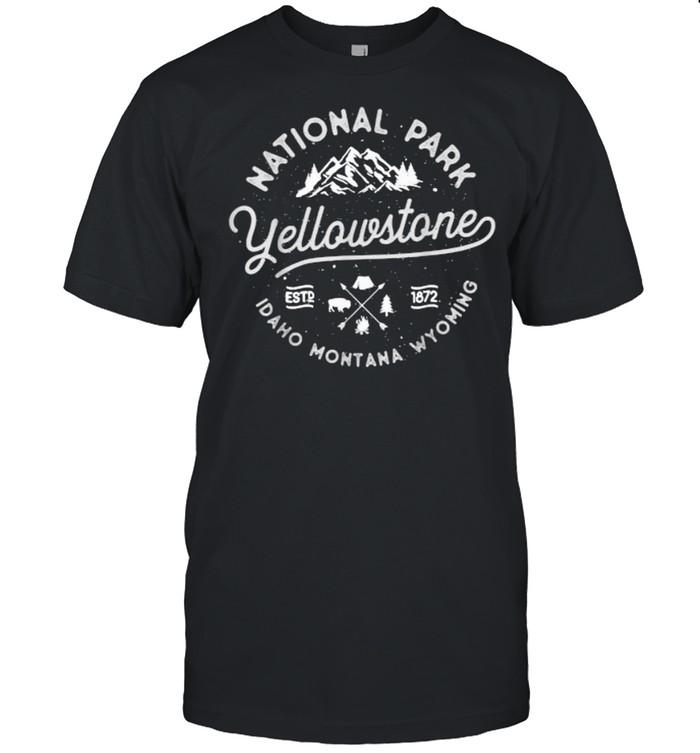 US National Park Yellowstone Bison Buffalo shirt Classic Men's