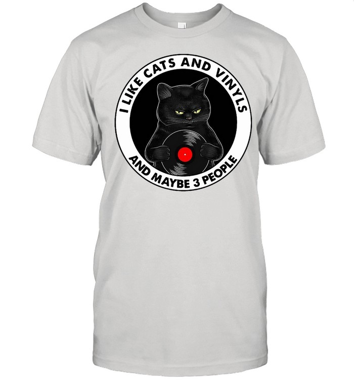 I Like Cats And Vinyls And Maybe 3 People T-shirt Classic Men's T-shirt