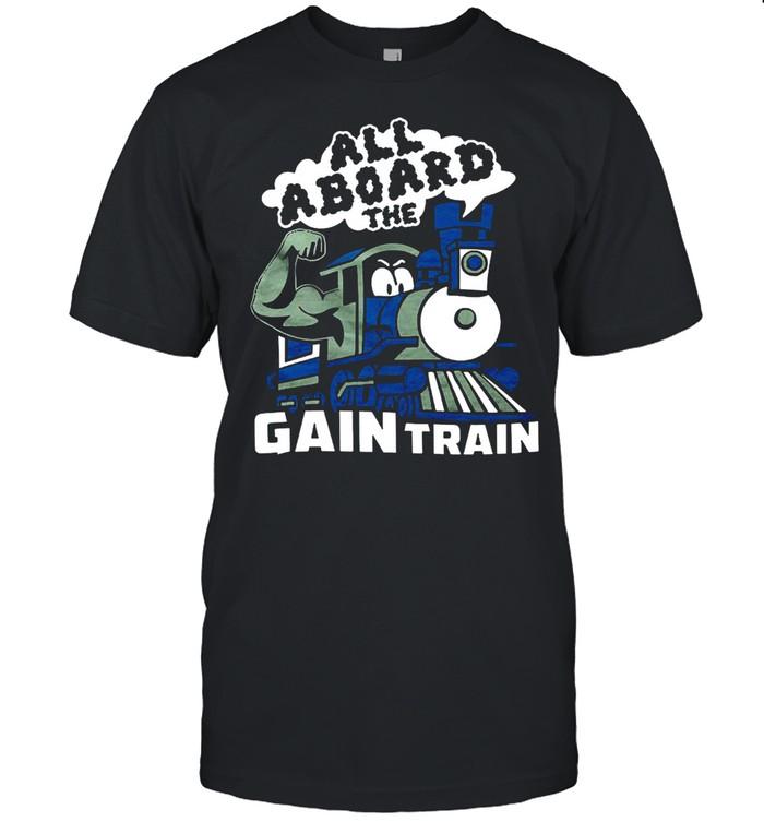 All Aboard The Gain Train  Classic Men's T-shirt