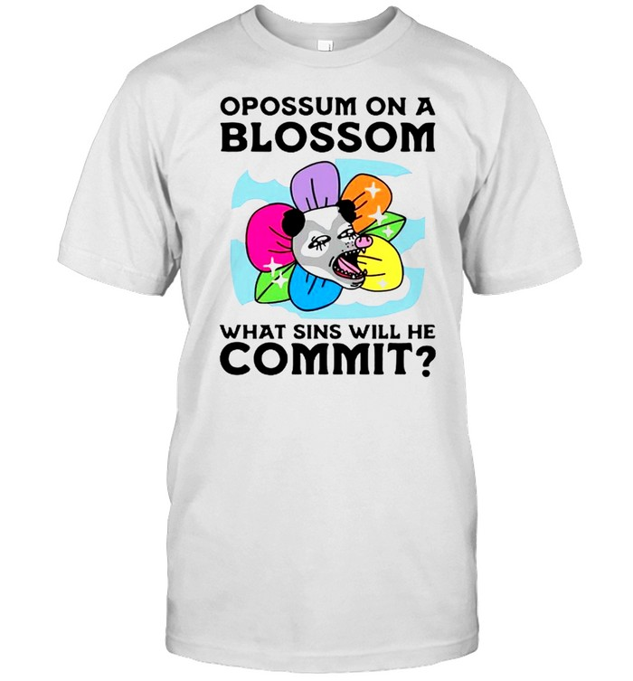 Opossum on a blossom what sins will he commit shirt Classic Men's T-shirt