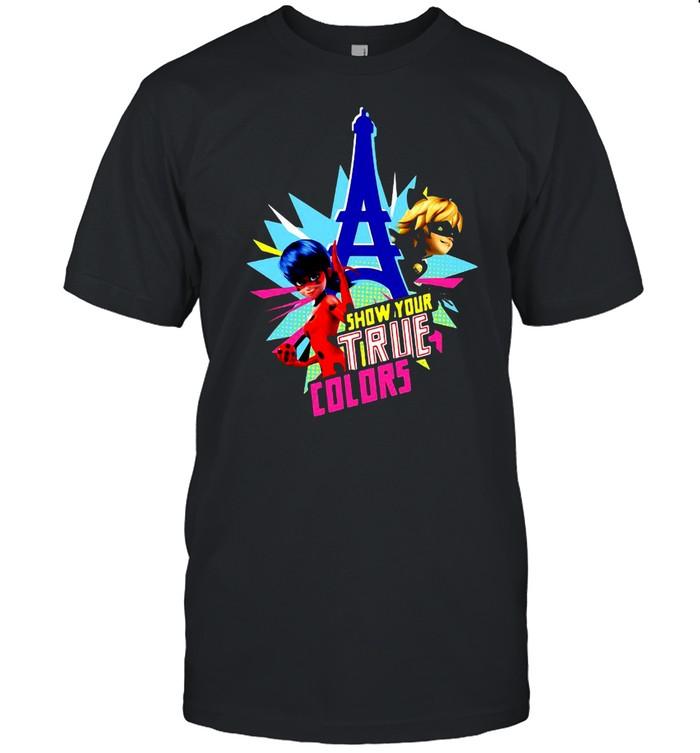 Miraculous Collection Ladybug And Cat Noir Show Your True Colors T-shirt Classic Men's T-shirt
