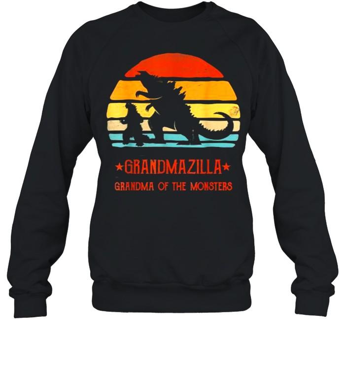 Grandmazilla Grandma Of Monsters Vintage T- Unisex Sweatshirt