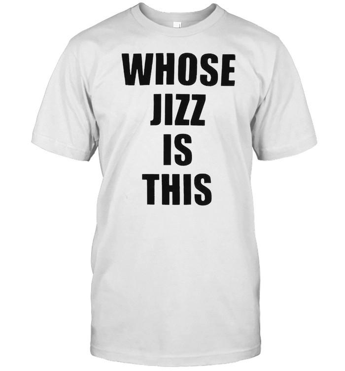 Whose jizz is this peaches shirt Classic Men's T-shirt