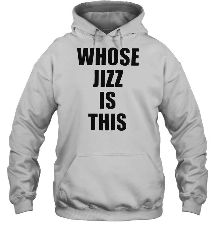 Whose jizz is this peaches shirt Unisex Hoodie