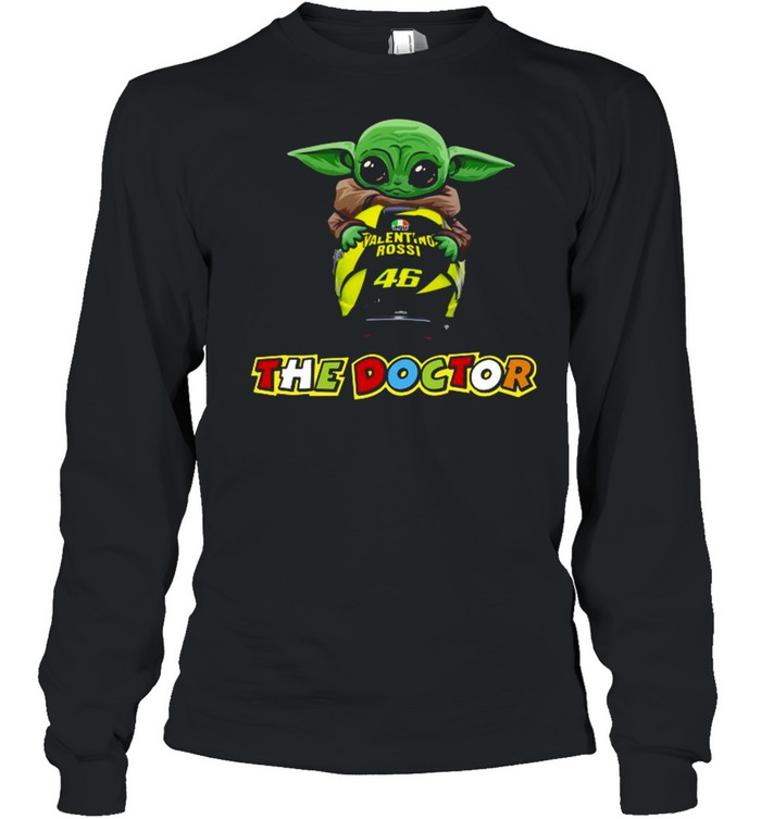 Baby Yoda The Child Hug 46 Valentino Rossi The Doctor  Long Sleeved T-shirt