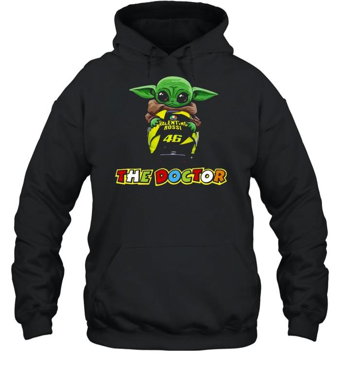 Baby Yoda The Child Hug 46 Valentino Rossi The Doctor  Unisex Hoodie