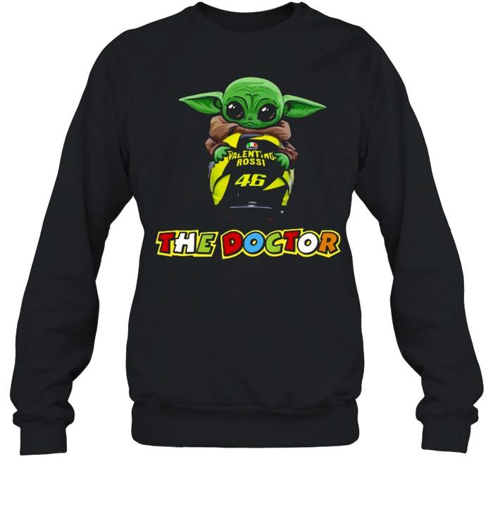Baby Yoda The Child Hug 46 Valentino Rossi The Doctor  Unisex Sweatshirt