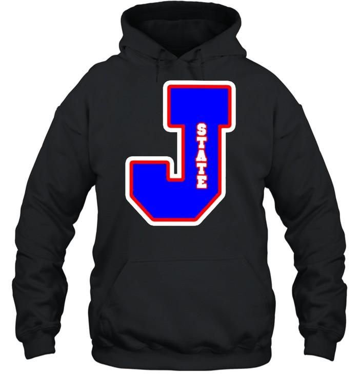 Jackson State Tigers J state letterman shirt Unisex Hoodie