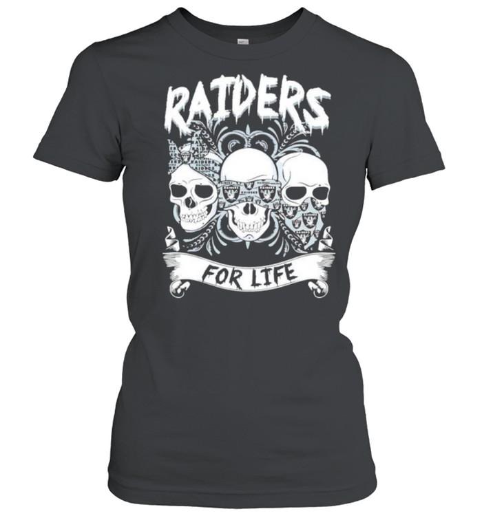 Skull Raiders for life shirt Classic Women's T-shirt