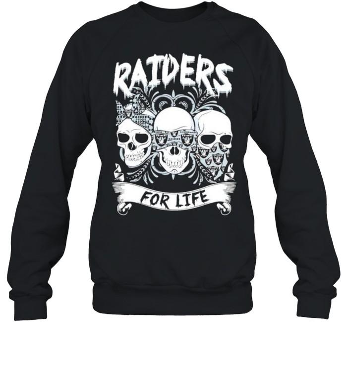 Skull Raiders for life shirt Unisex Sweatshirt