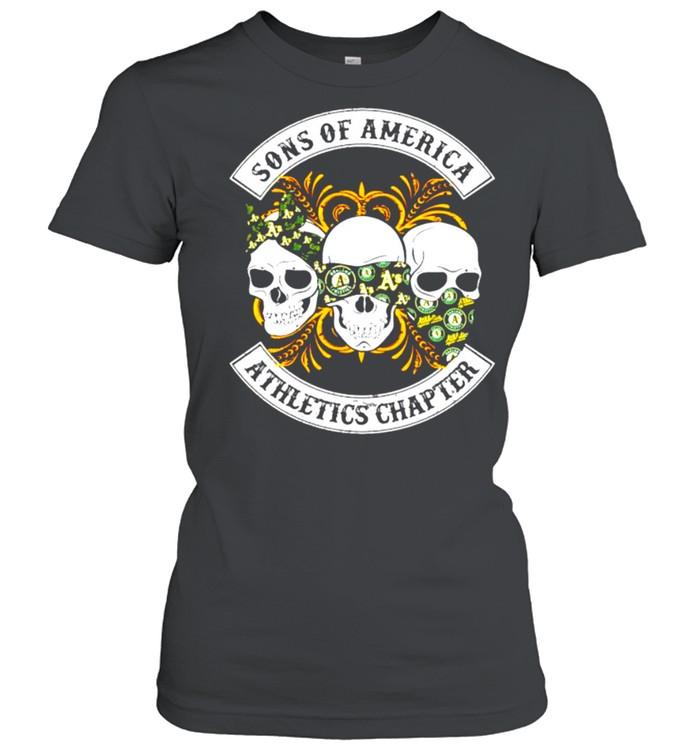 Skulls sons of America Athletics chapter shirt Classic Women's T-shirt