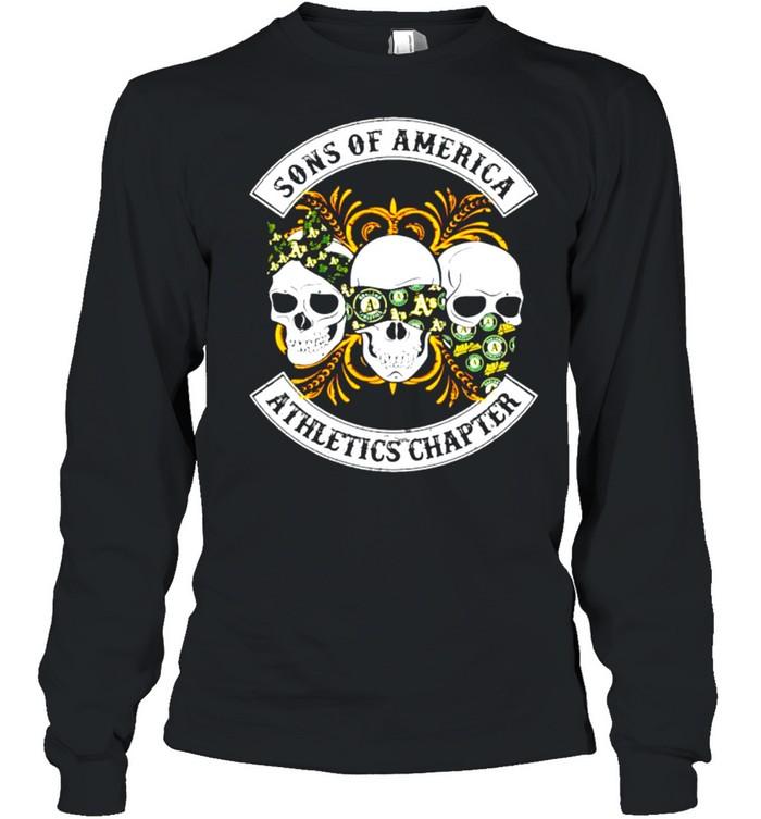 Skulls sons of America Athletics chapter shirt Long Sleeved T-shirt