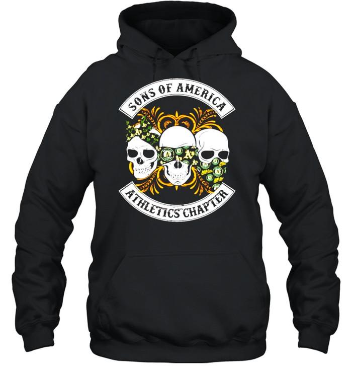 Skulls sons of America Athletics chapter shirt Unisex Hoodie