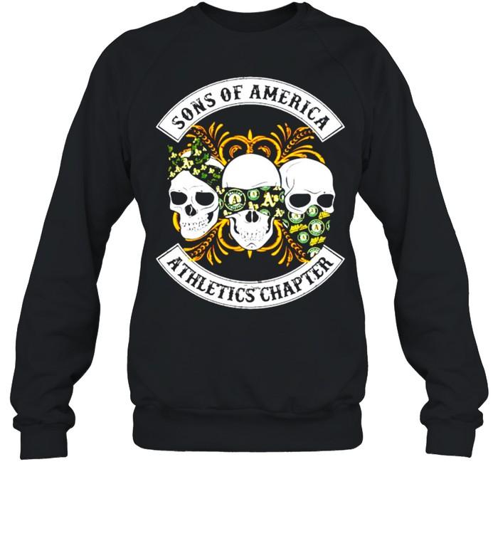 Skulls sons of America Athletics chapter shirt Unisex Sweatshirt