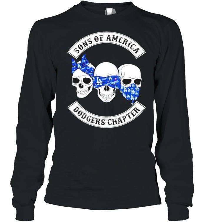 Skulls sons of America Dodgers chapter shirt Long Sleeved T-shirt
