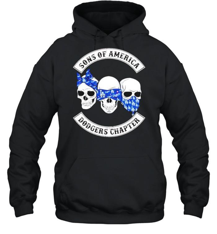Skulls sons of America Dodgers chapter shirt Unisex Hoodie