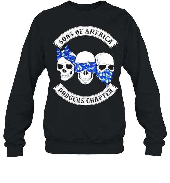 Skulls sons of America Dodgers chapter shirt Unisex Sweatshirt
