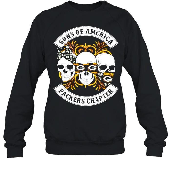Skulls sons of America Packers chapter shirt Unisex Sweatshirt