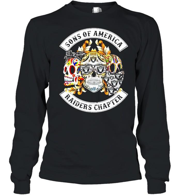 Skulls sons of America Raiders chapter shirt Long Sleeved T-shirt