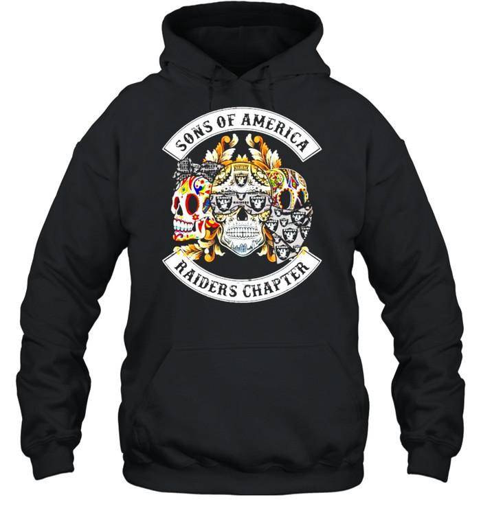 Skulls sons of America Raiders chapter shirt Unisex Hoodie