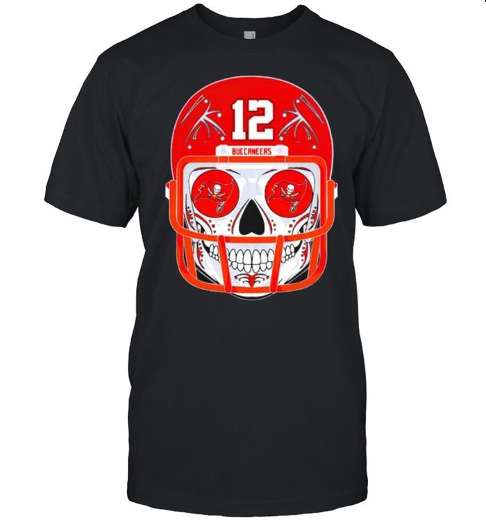 Sugar skull Buccaneers Tom Brady shirt Classic Men's T-shirt