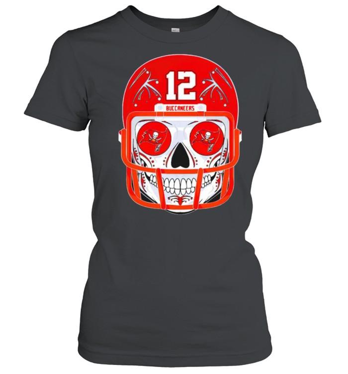 Sugar skull Buccaneers Tom Brady shirt Classic Women's T-shirt