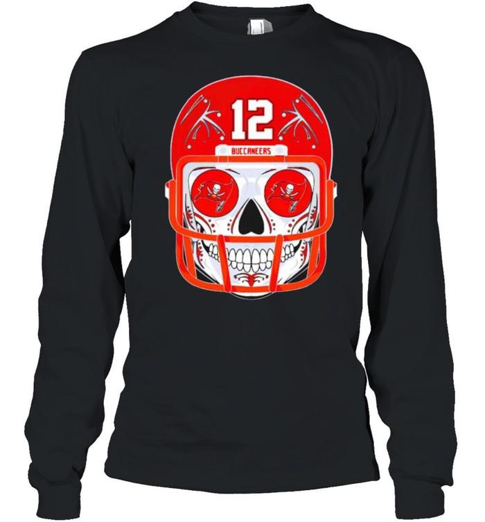 Sugar skull Buccaneers Tom Brady shirt Long Sleeved T-shirt