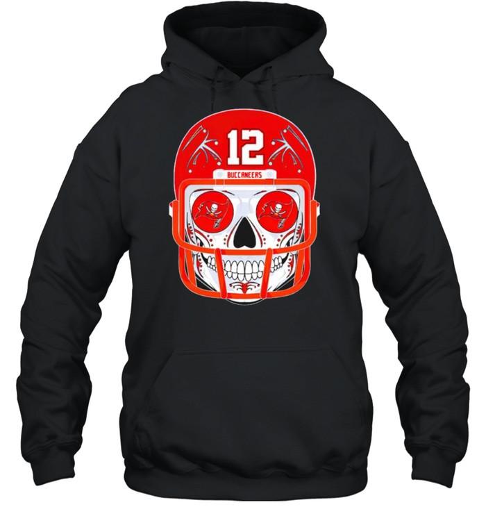 Sugar skull Buccaneers Tom Brady shirt Unisex Hoodie