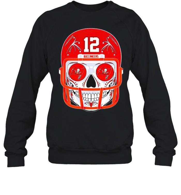 Sugar skull Buccaneers Tom Brady shirt Unisex Sweatshirt